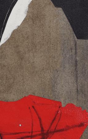 Santomaso G. - S.T. - t.m. su carta - cm 48-37 - 1989