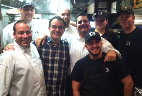 Staff at Romer's with Johnny Catucci