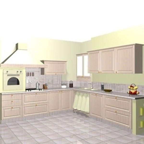 progetto cucina con forno rialzato