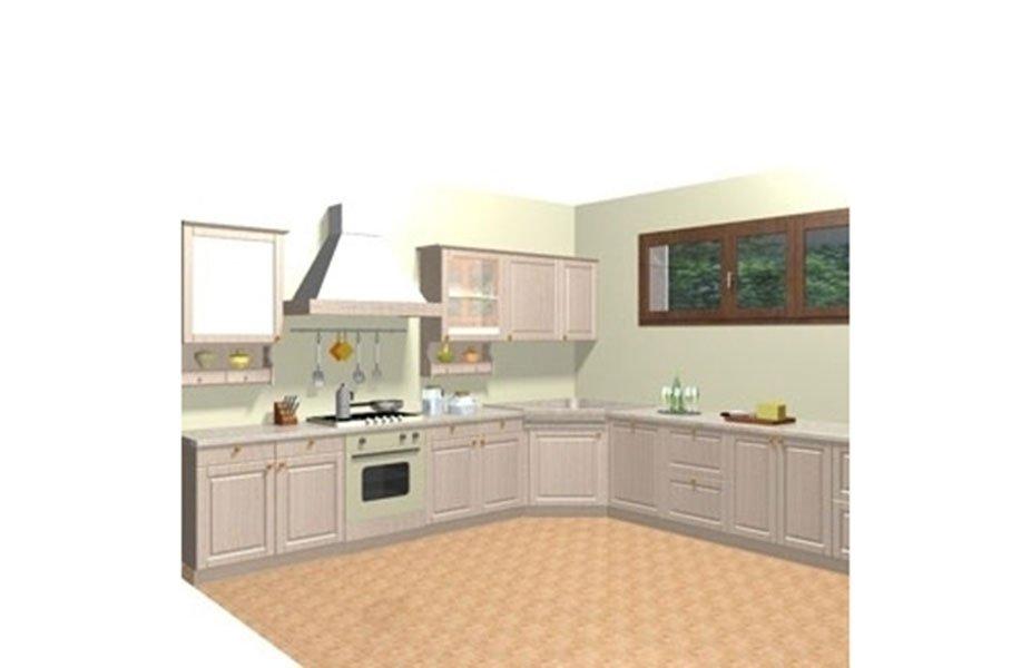 progetto cucina in legno chiaro