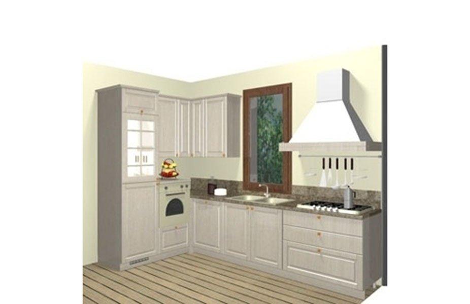 progetto cucina a parete