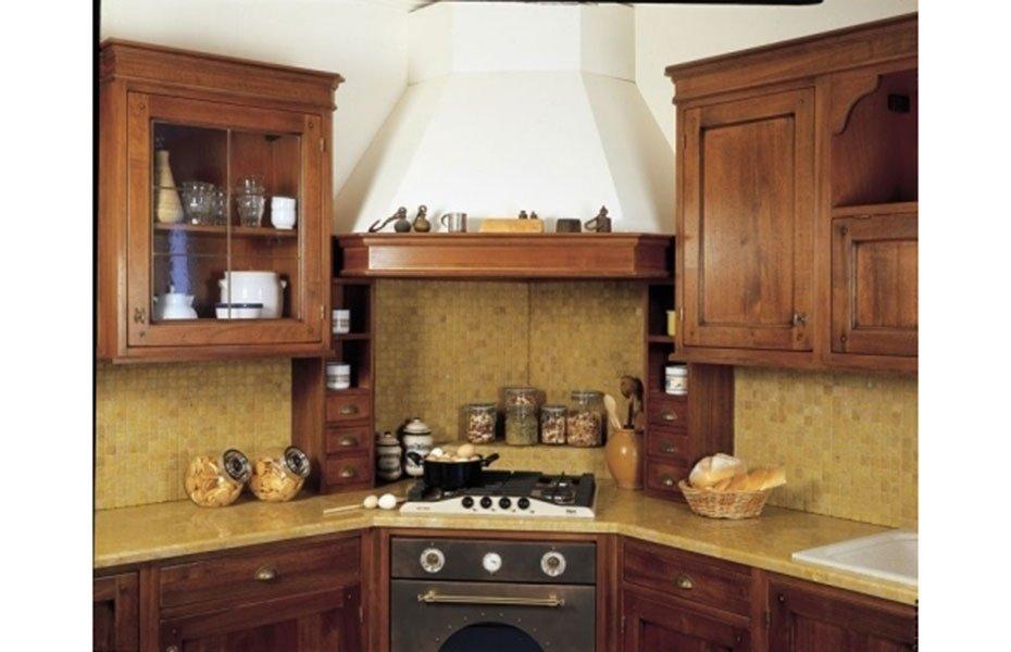 cucina con forno angolare
