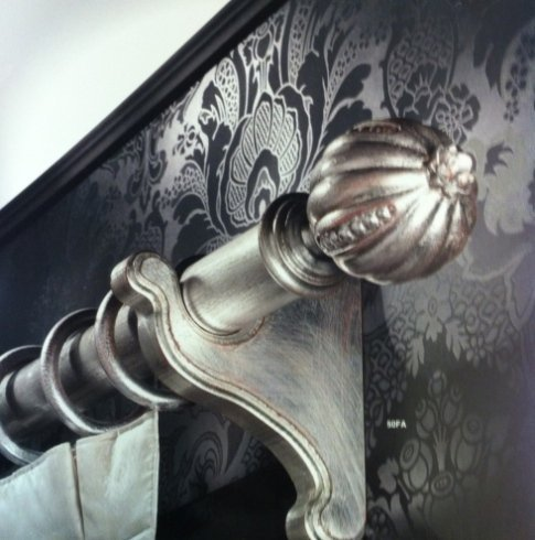 Bastone in foglia d'argento