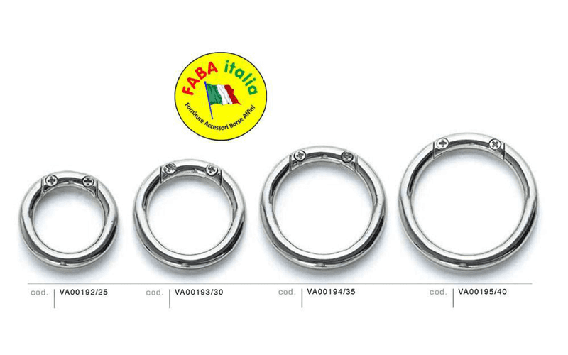 anelli per pelletteria