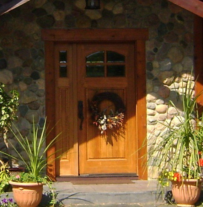 Custom wood door gallery front entry interior and for Aik sing interior decoration contractor