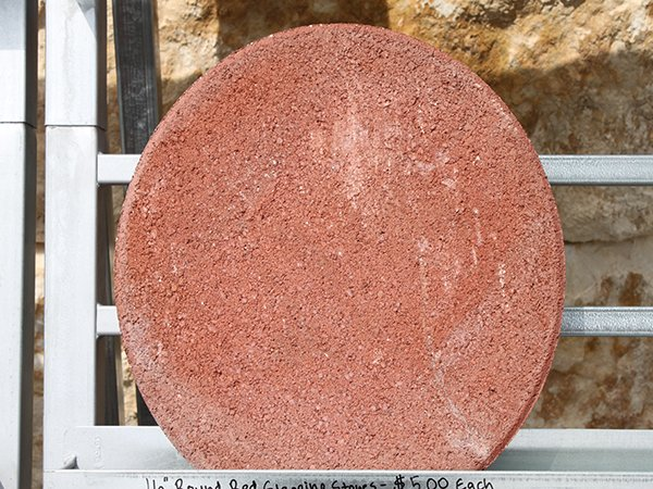 16 Quot Round Red Stepping Stones