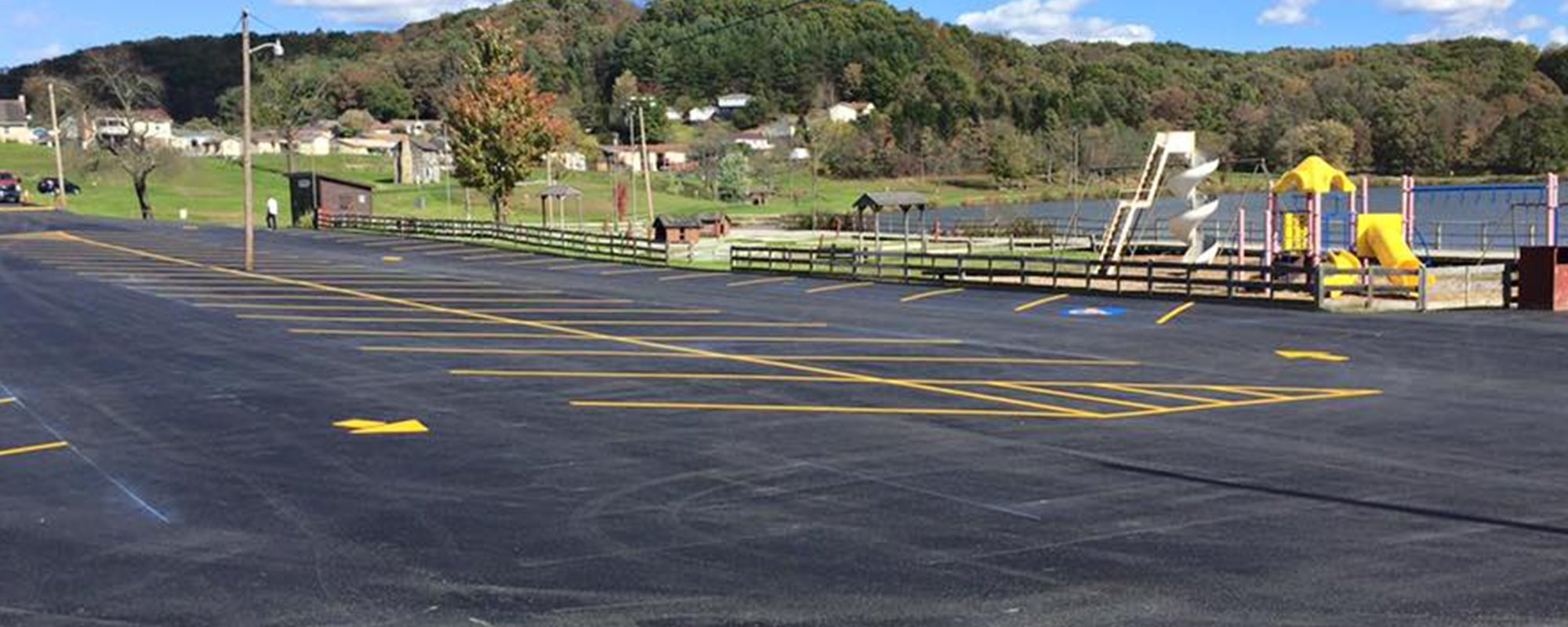 Well paved road built by experts in Virginia