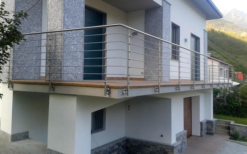 Balaustra balcone in acciaio inox