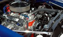 Car engine during auto inspection and brake service in High Point, NC
