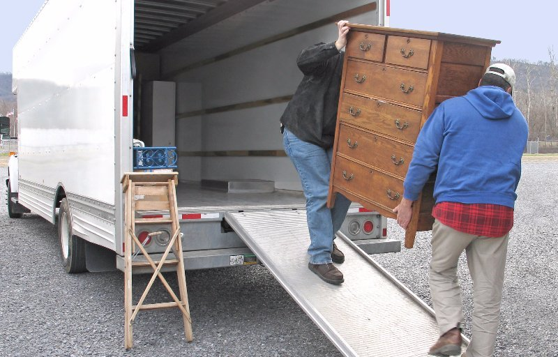 Furniture delivery vehicle