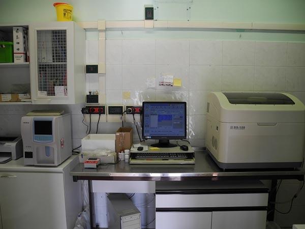 interno sala analisi cliniche veterinarie