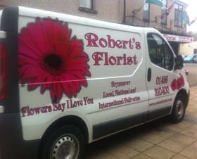 Floral services - Abergavenny, Gwent - Robert's Florist Ltd - Van