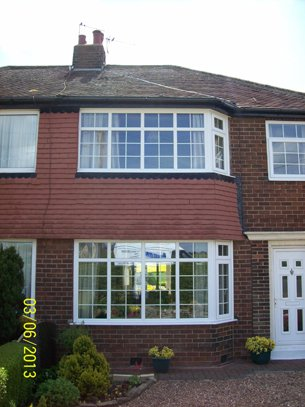 house with upvc windows and door