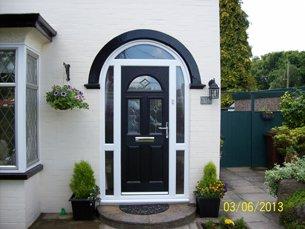 black upvc front door