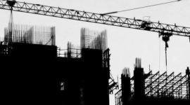 costruzione edificio gabbia d'armatura, gru da cantiere