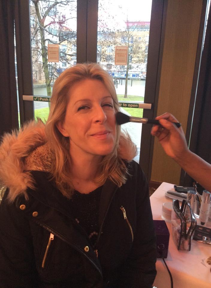 make-up in progress