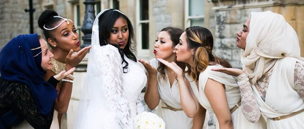 bride with her friends