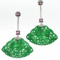 diamanti, rubini, collezione orecchini