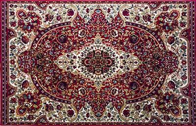 tappeto ricamato