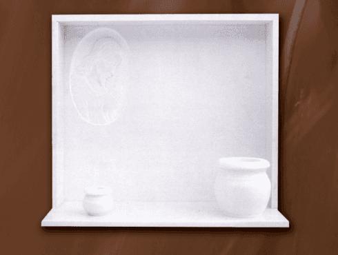 Lapide con vasi