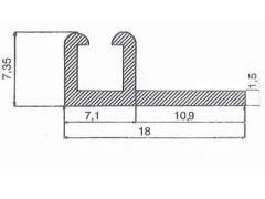 serramenti supporto in alluminio SB490G