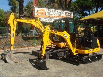 mini escavatore noleggio roma