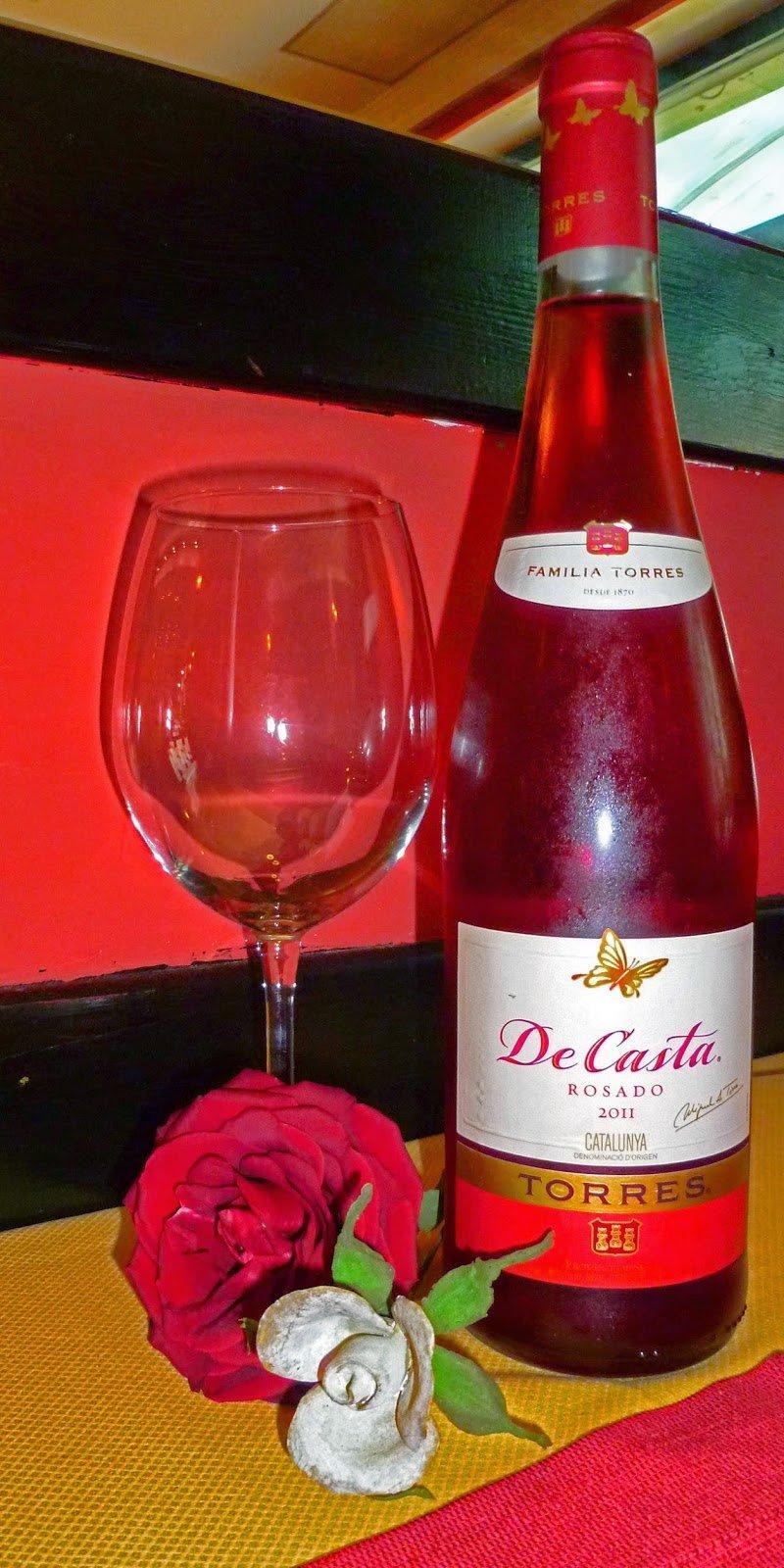 Bottiglia di vino rosé
