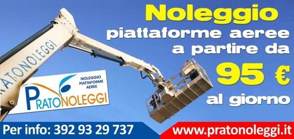 Noleggio piattaforme aeree Prato Firenze e Pistoia a 95 €