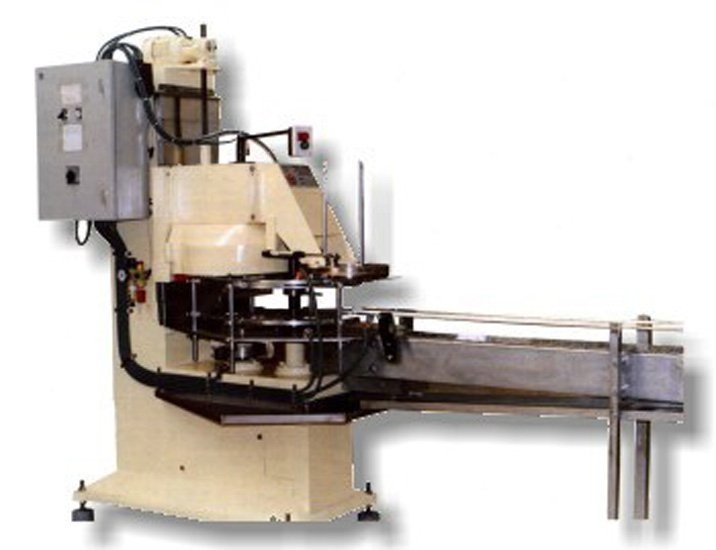 Aggraffatrice automatica con nastro per barattoli