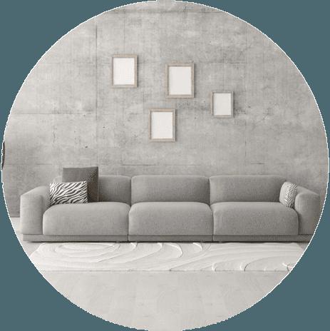 muro dipinto di grigio