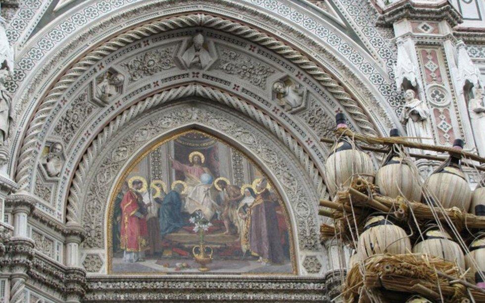 Manifestazione in Piazza del Duomo a FIrenze