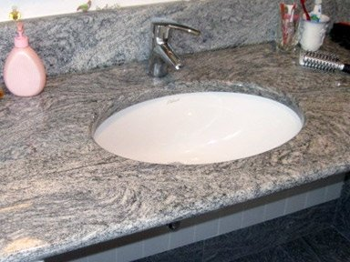 top bagno in marmo