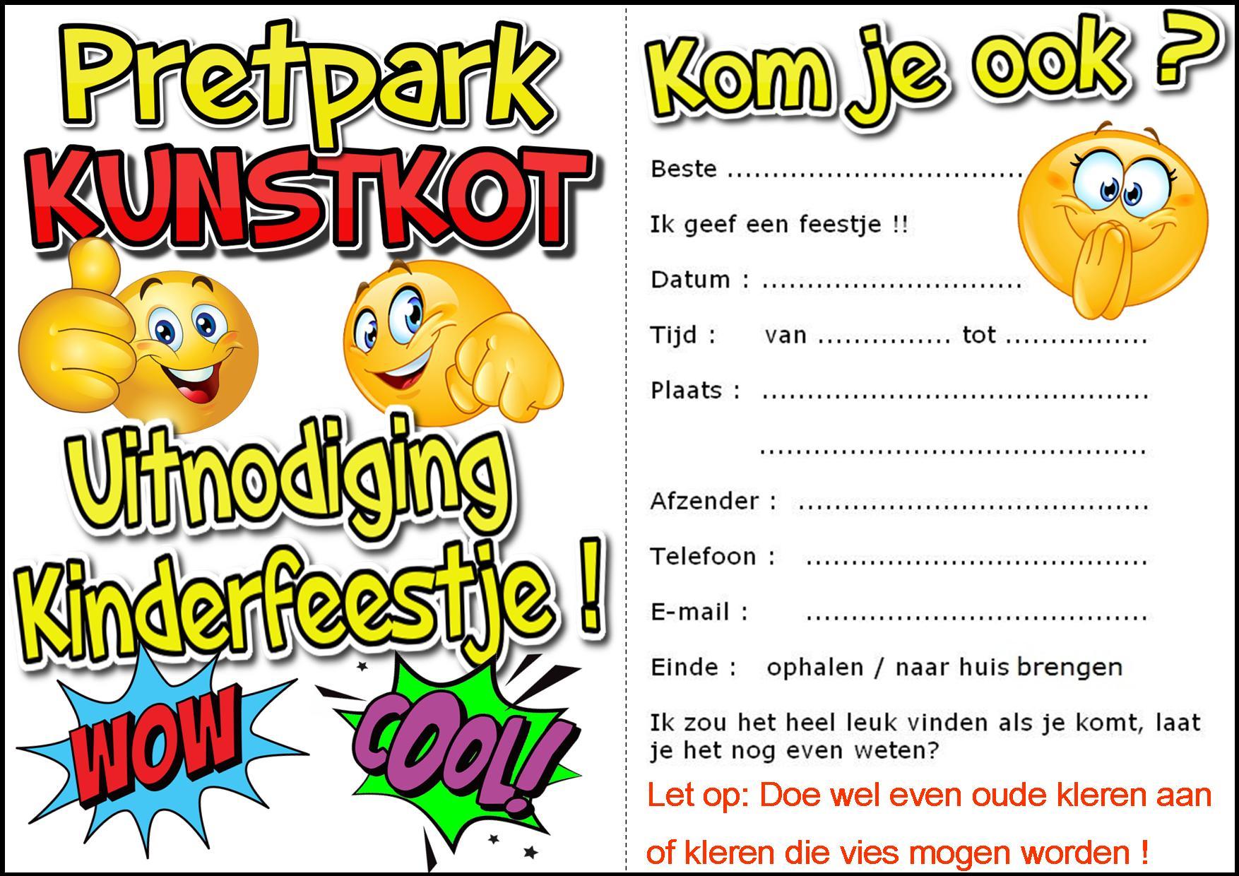 Overzicht Kinderfeestjes Groningen Bij Pretpark Kunstkot De Droom