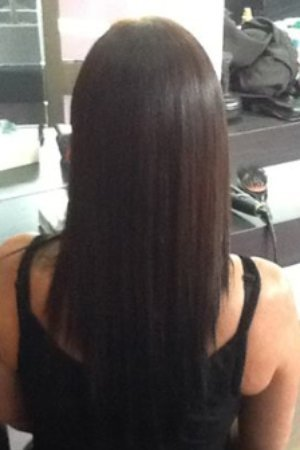 keratin hair straightening