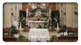 addobbi floreali per matrimoni, allestimenti floreali chiese, allestimento floreale casa sposa