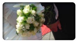 bouquet di rose bianche, bouquet da cerimonia, bouquet di fiori freschi recisi