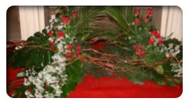 addobbi floreali per comunioni, addobbi floreali per cresime, addobbi floreali per battesimi