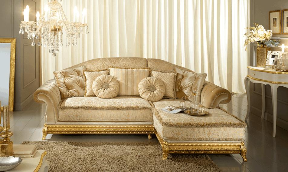divano classico angolato made in italy