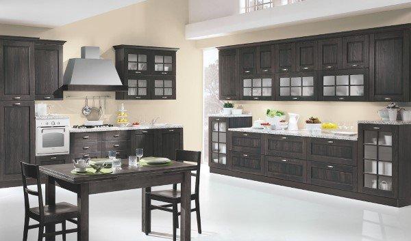 cucina in legno scuro stile contemporaneo