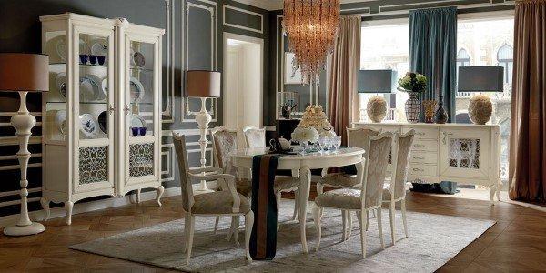 sala da pranzo in stile contemporaneo