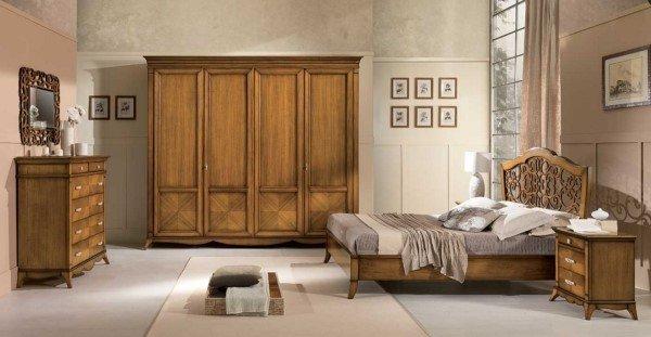 Camera da letto in legno stile contemporaeno