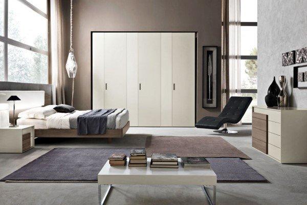 camera da letto moderna con armadio 6 ante