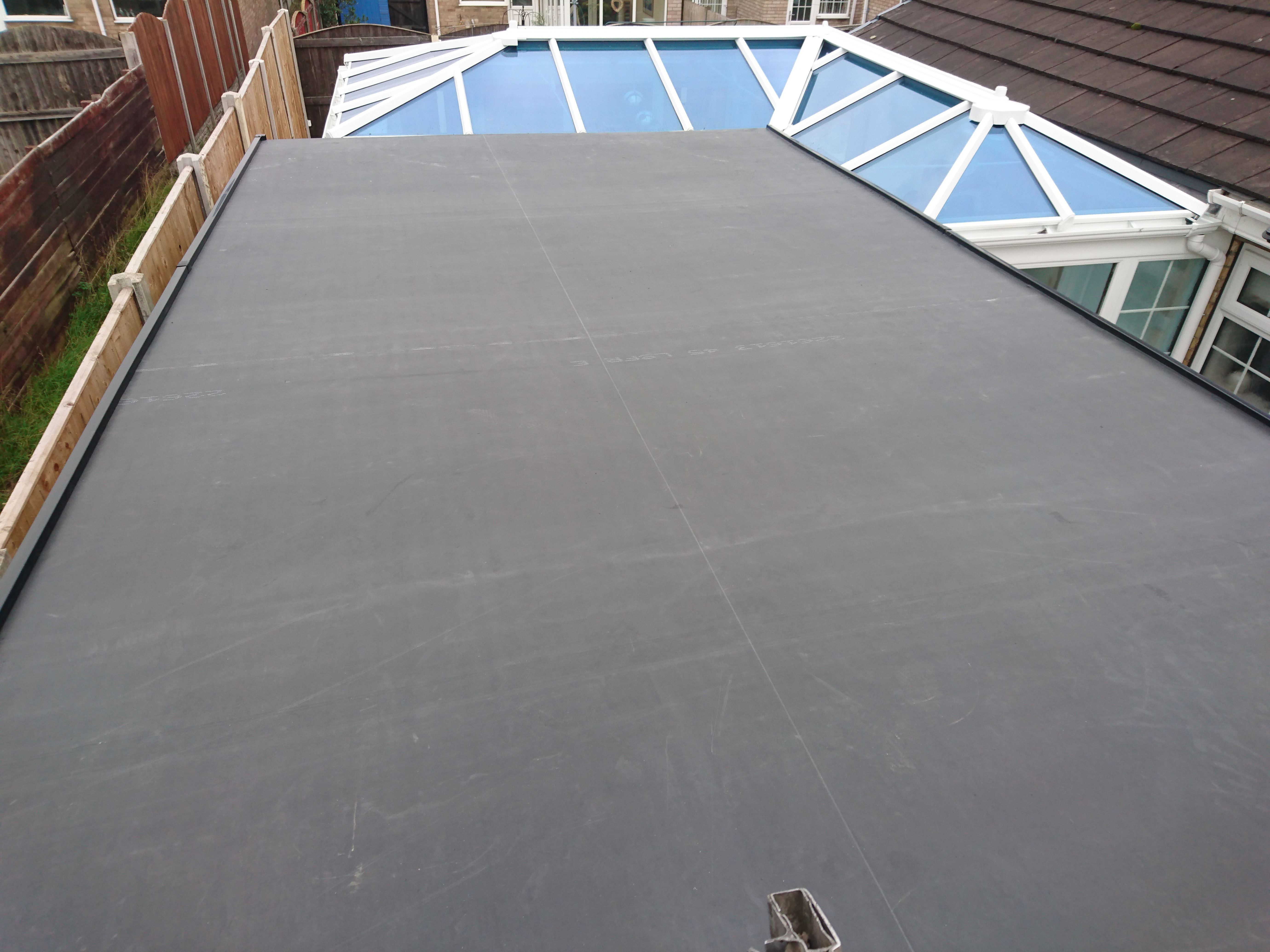 flat roof finished