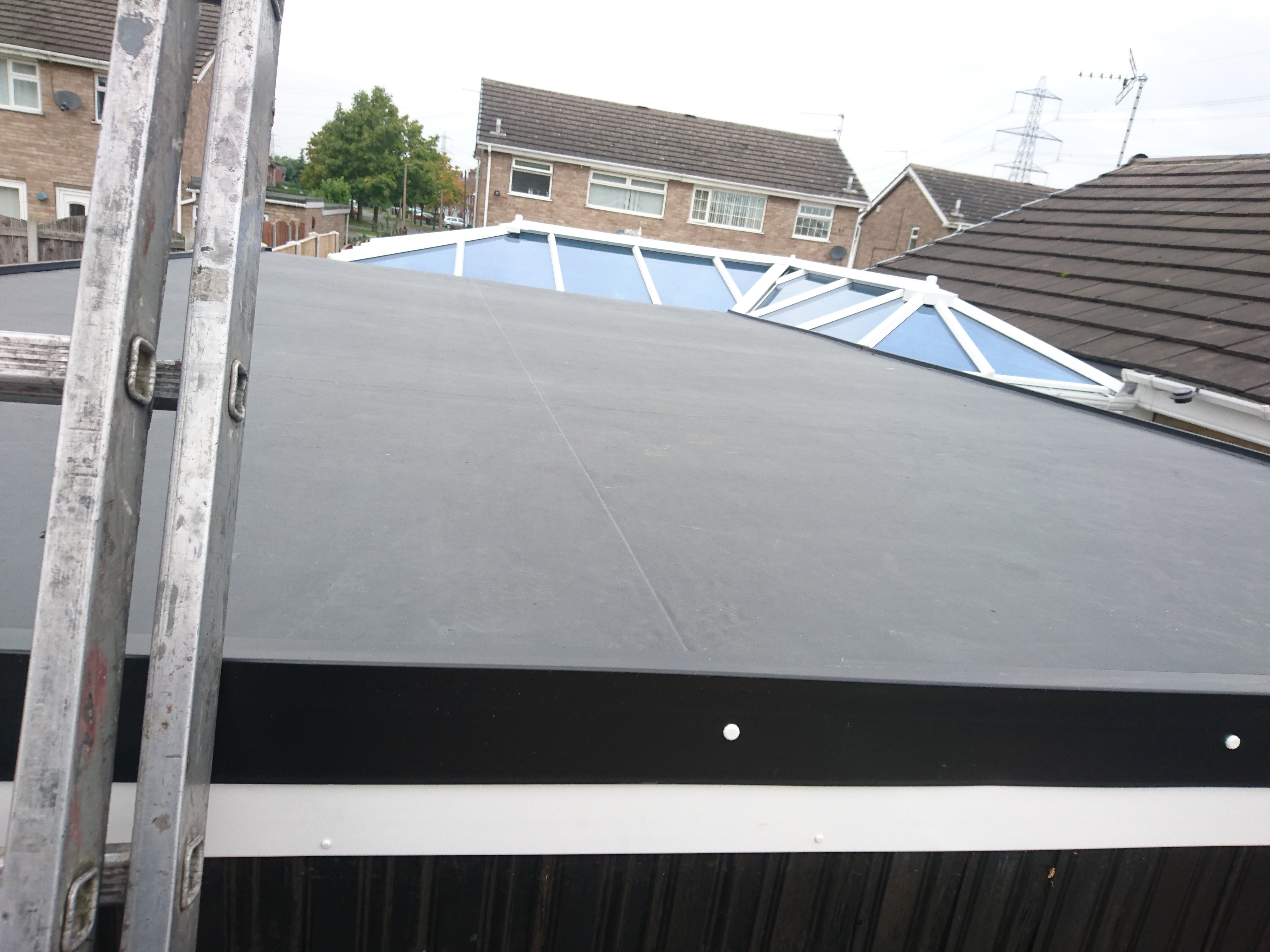 after roofing