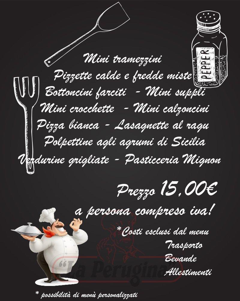 menù per catering a Roma
