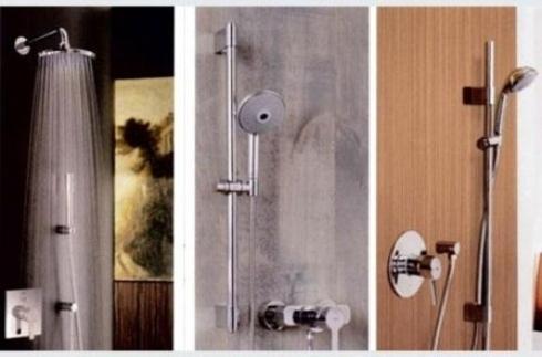 foto di tre docce diverse