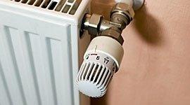 primo piano di valvola termostatica