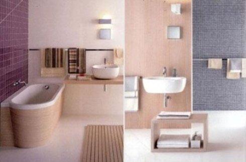 foto di un bagno con vasca e dettaglio di lavabo da bagno