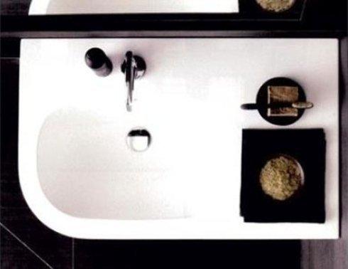 lavabo rettangolare visto dall'alto