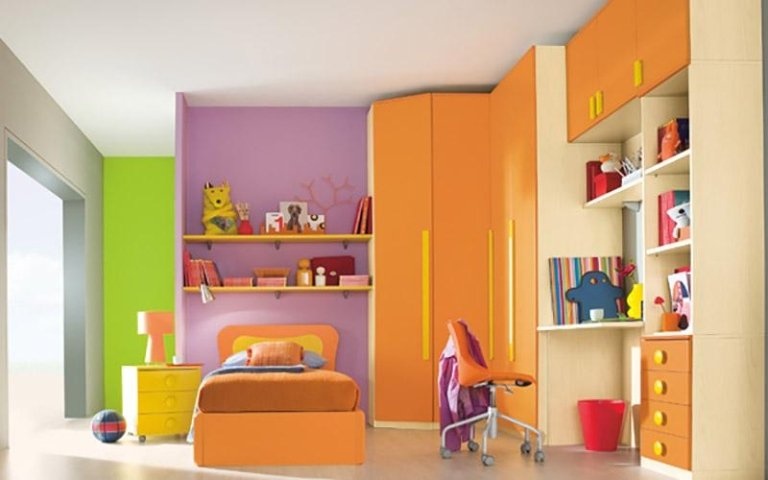 Cameretta Lilla E Arancione : Camerette lilla e arancio: kitchen pantry cabinet camerette in rosa